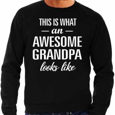 Awesome grandpa opa cadeau trui zwart heren