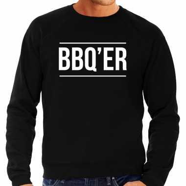 Bbq er bbq / barbecue cadeau trui / trui zwart heren
