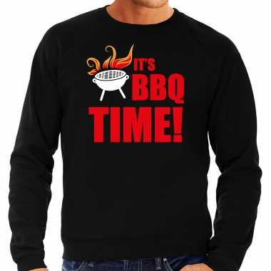 Bbq time bbq / barbecue cadeau trui / trui zwart heren
