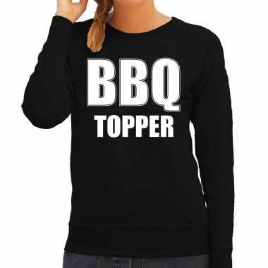 Bbq topper bbq / barbecue cadeau trui / trui zwart dames