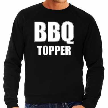 Bbq topper bbq / barbecue cadeau trui / trui zwart heren