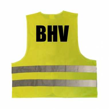 Bhv truije / hesje geel reflecterende strepen volwassenen