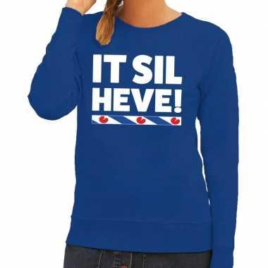 Blauwe trui / trui friesland it sil heve dames