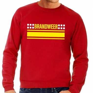 Brandweer logo trui rood heren