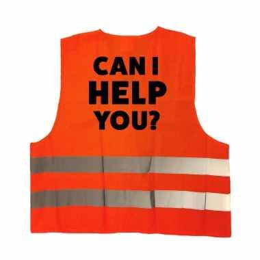 Can i help you personeel truije / hesje oranje reflecterende strepen volwassenen