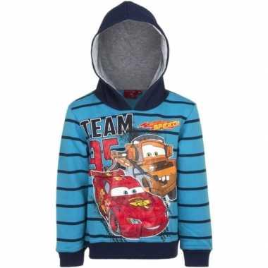 Cars capuchon trui blauw voor jongens