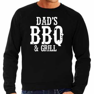 Dads bbq grill bbq / barbecue cadeau trui / trui zwart heren