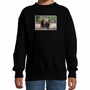 Dieren trui / trui beren foto zwart kinderen