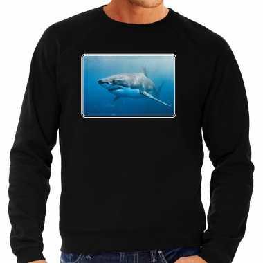 Dieren trui / trui haaien foto zwart heren