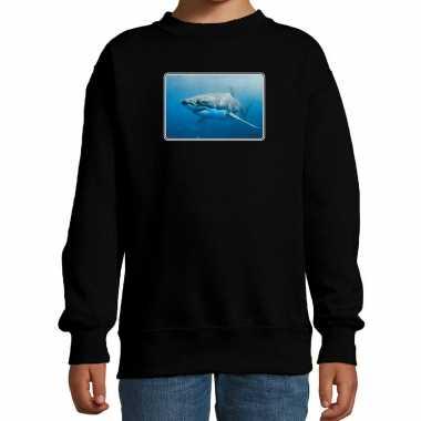 Dieren trui / trui haaien foto zwart kinderen