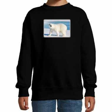 Dieren trui / trui ijsberen foto zwart kinderen