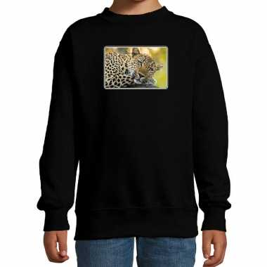 Dieren trui / trui jaguars foto zwart kinderen
