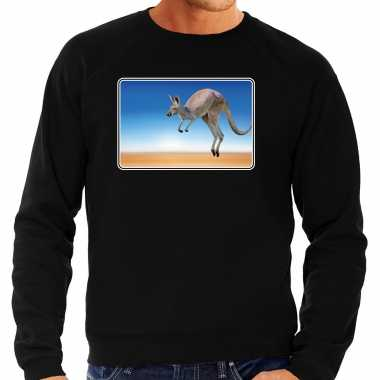 Dieren trui / trui kangoeroes foto zwart heren