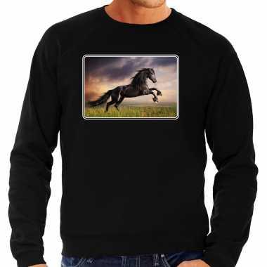 Dieren trui / trui paarden foto zwart heren