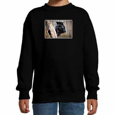 Dieren trui / trui panters foto zwart kinderen