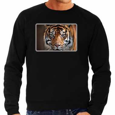 Dieren trui / trui tijgers foto zwart heren