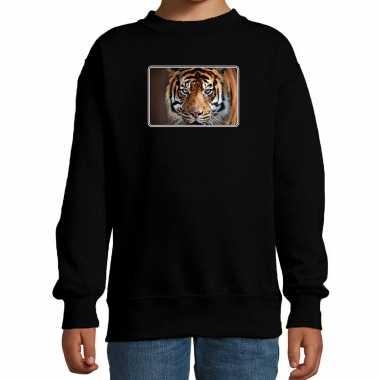 Dieren trui / trui tijgers foto zwart kinderen