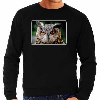 Dieren trui / trui uilen foto zwart heren