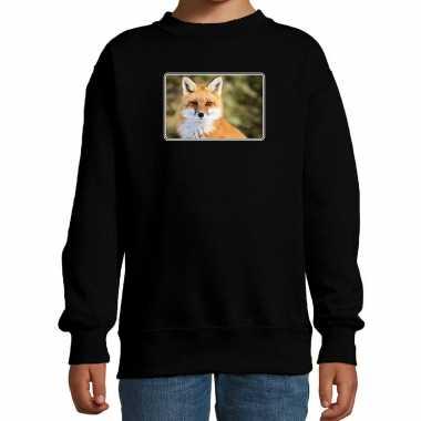 Dieren trui / trui vossen foto zwart kinderen