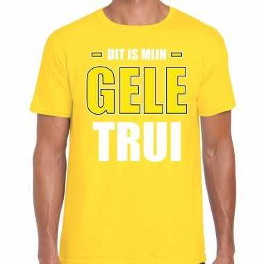 Dit is mijn gele trui fun tekst t-shirt geel heren