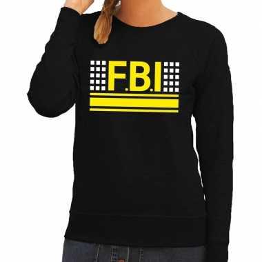 Fbi logo trui zwart dames