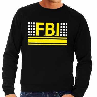Fbi logo trui zwart heren