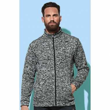 Fleece outdoor trui premium donker grijs heren