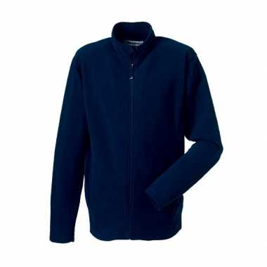 Fleece trui navy heren