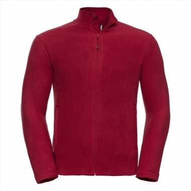 Fleece trui rood heren