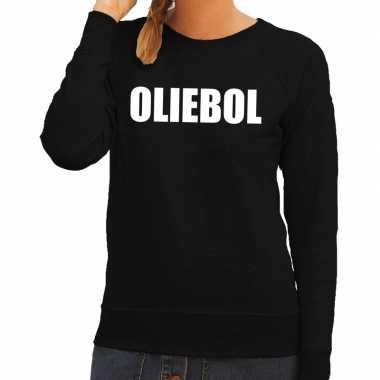 Foute jaarwisseling trui / trui oliebol zwart dames