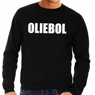 Foute jaarwisseling trui / trui oliebol zwart heren
