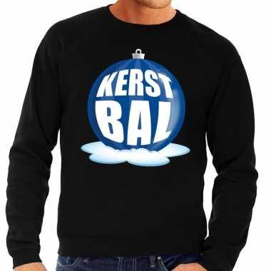 Foute kersttrui kerstbal blauw zwarte trui heren