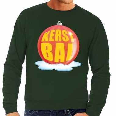 Foute kersttrui kerstbal rood groene trui heren
