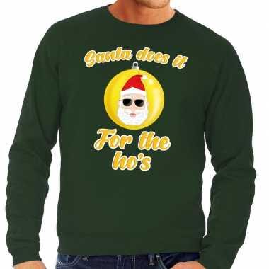 Foute kersttrui kerstman does it for the ho's groen heren