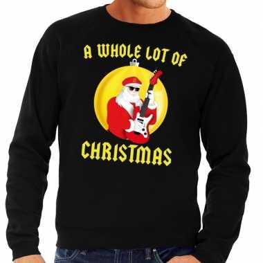 Foute kersttrui zwart a whole lot of christmas heren