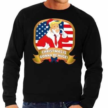 Foute kersttrui zwart christmas is gonne be huge heren