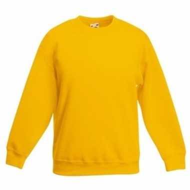 Gele katoenmix trui voor meisjes