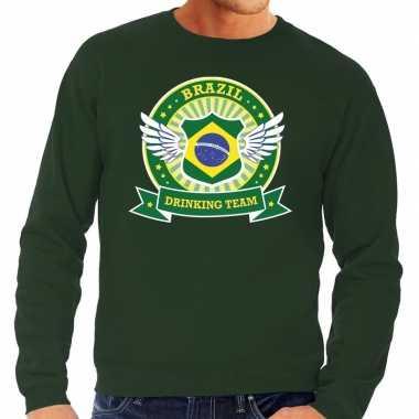 Groen brazil drinking team trui heren