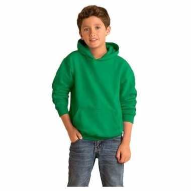 Groene capuchon trui voor jongens
