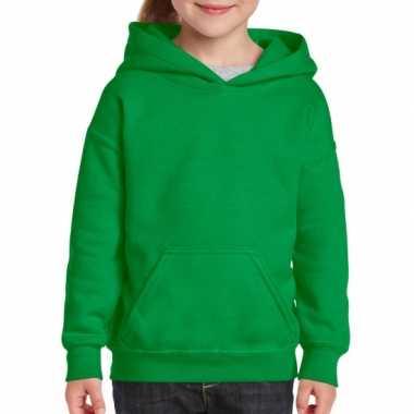 Groene capuchon trui voor meisjes