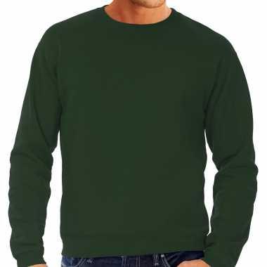 Groene trui / sweatshirt trui grote maat ronde hals heren