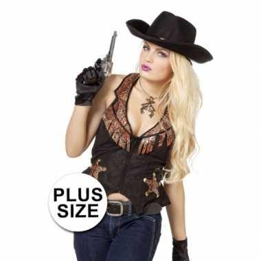 Grote maat cowboy trui dames
