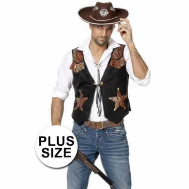 Grote maat cowboy trui heren