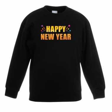 Happy new year trui/ trui zwart kinderen