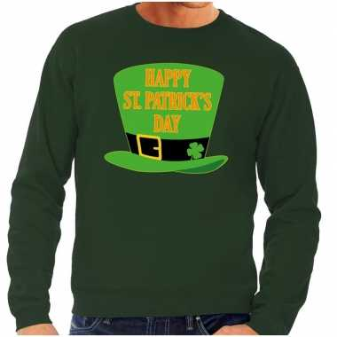 Happy st. patricksday trui groen heren