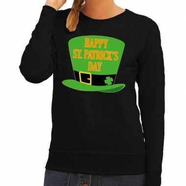Happy st. patricksday trui zwart dames