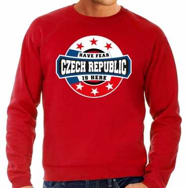Have fear czech republic is here trui tsjechie supporters rood heren