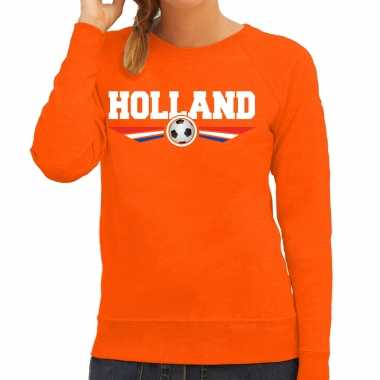 Holland landen / voetbal trui oranje dames