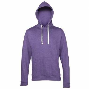 Hooded trui paars heren