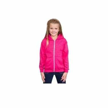 Hooded trui roze voor meisjes